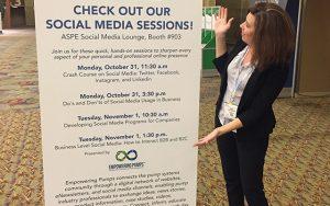 Charli co-presents at ASPE's Social Media Lounge