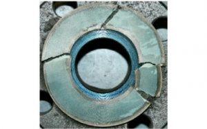 Figure 1: Damaged gasket without anti-stick coating