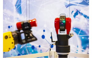 API Radian Plus Laser Tracker with API Robot-mounted Smart Track Sensor.